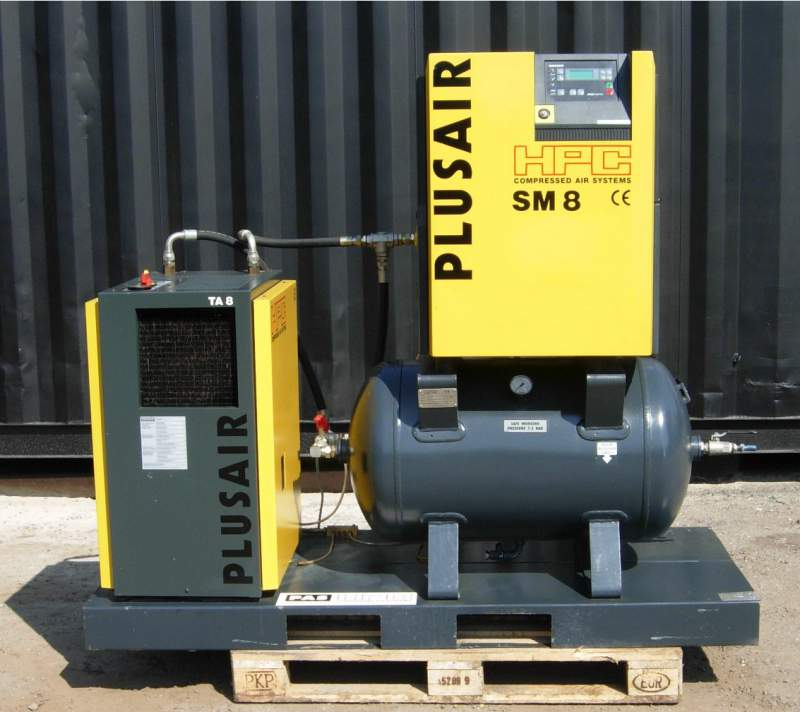 Compressed air, used industrial compressor